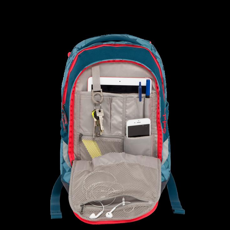 Рюкзак Ergobag Satch Sleek цвет Blue Triangle, - фото 8