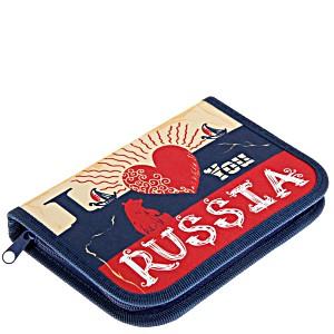Пенал пустой Оникс ПК7-20 Я люблю Россию