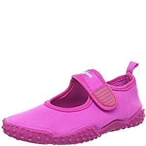 Тапочки детские коралловые Аквашузы для бассейна Playshoes Розовые