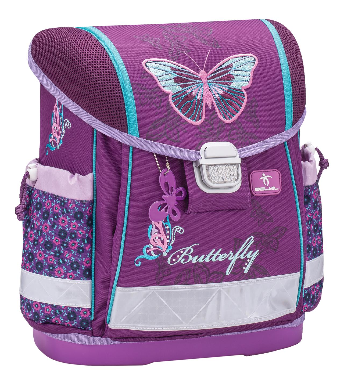 Школьный ранец Belmil 403 13 Butterfly - Фиолетовая бабочка, - фото 1