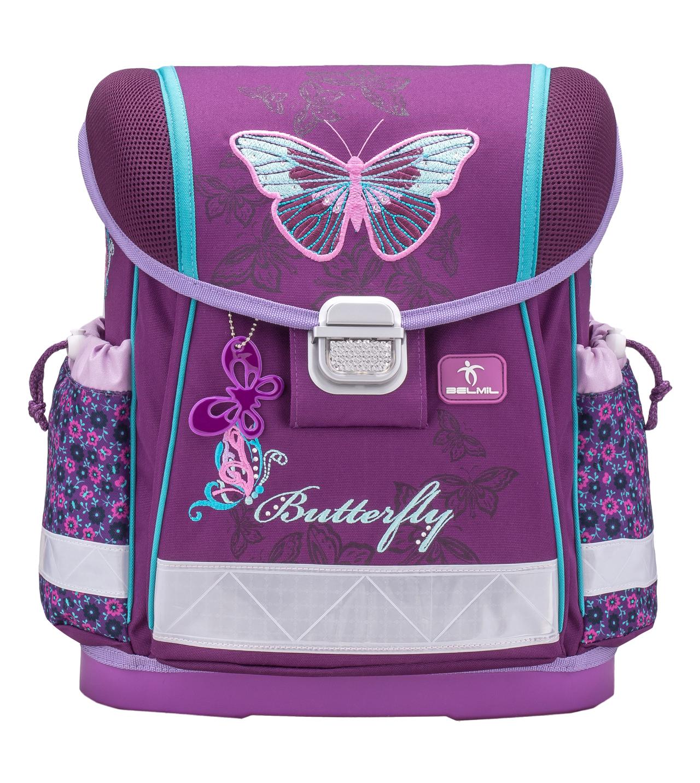 Школьный ранец Belmil 403 13 Butterfly - Фиолетовая бабочка, - фото 2