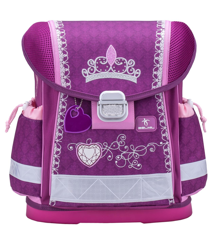 Школьный ранец Belmil 403 13 Little Princess - Фиолетовая корона - Принцесса, - фото 2