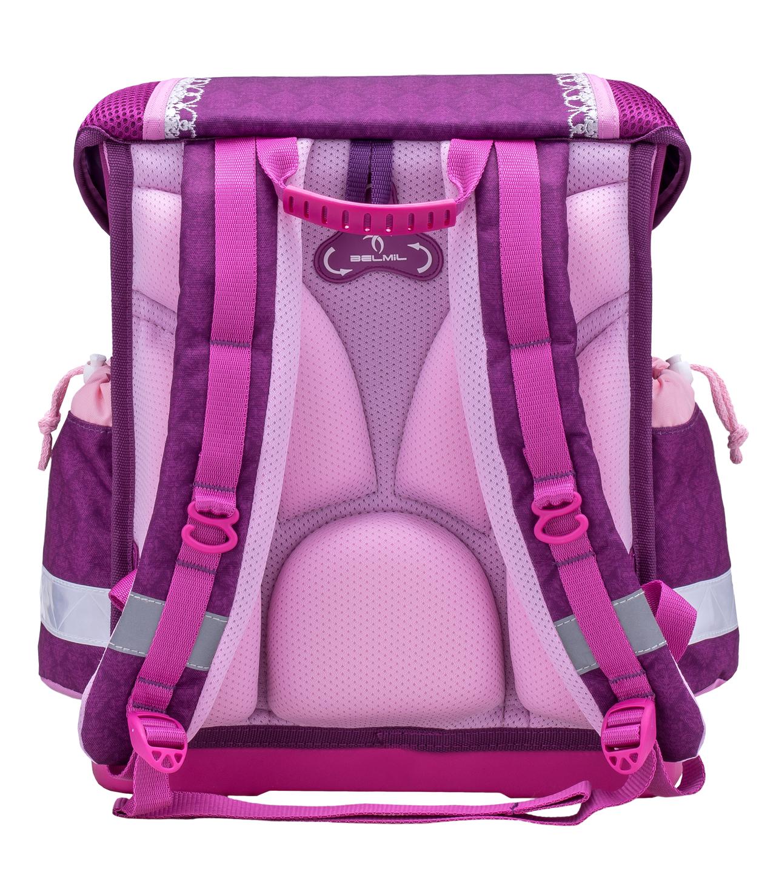 Школьный ранец Belmil 403 13 Little Princess - Фиолетовая корона - Принцесса, - фото 3