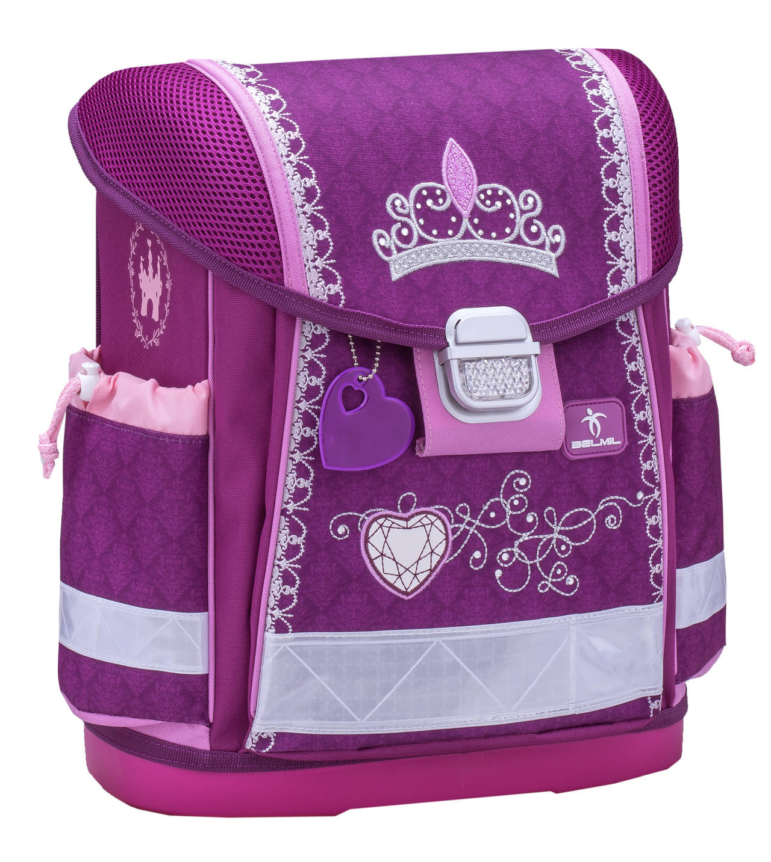 Школьный ранец Belmil 403 13 Little Princess - Фиолетовая корона - Принцесса, - фото 1
