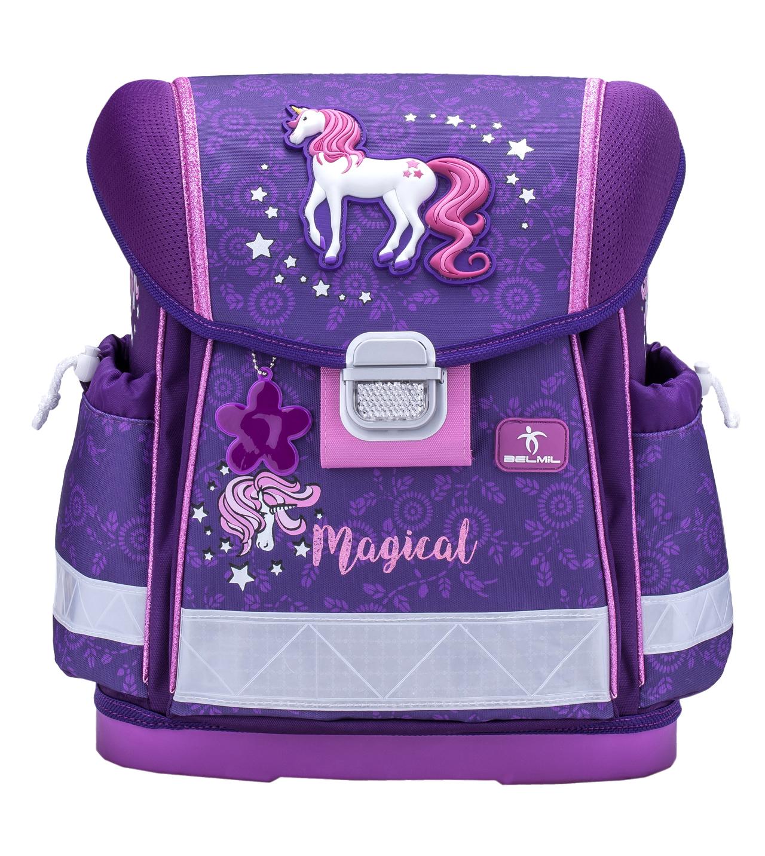 Школьный ранец Belmil 403 13 Magical - Фиолетовый единорог, - фото 2