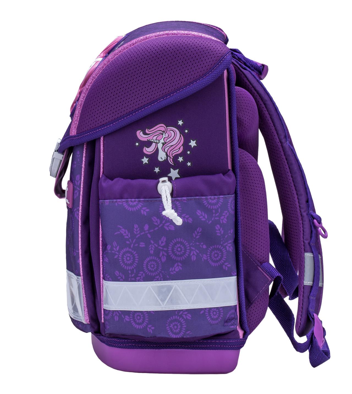 Школьный ранец Belmil 403 13 Magical - Фиолетовый единорог, - фото 4