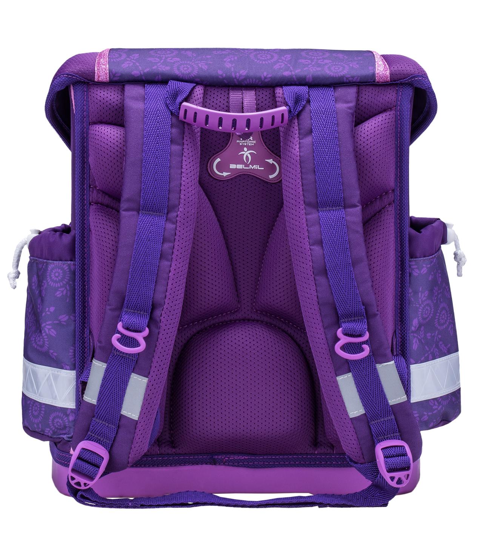 Школьный ранец Belmil 403 13 Magical - Фиолетовый единорог, - фото 3
