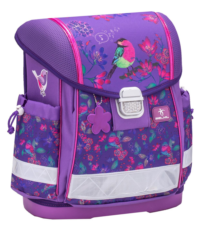 Школьный ранец Belmil 403 13 Singing Little Bird - Фиолетовая птичка, - фото 1