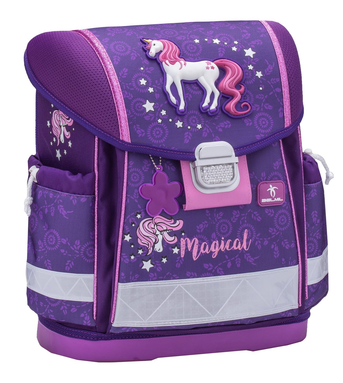 Школьный ранец Belmil 403 13 Magical - Фиолетовый единорог, - фото 1