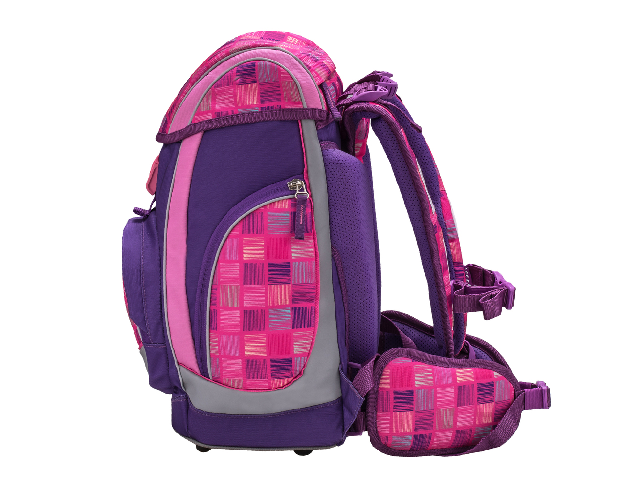Ранец-рюкзак Belmil Comfy Pack 405-11/683 цвет Pink & Purple Harmony+ дождевик, - фото 3