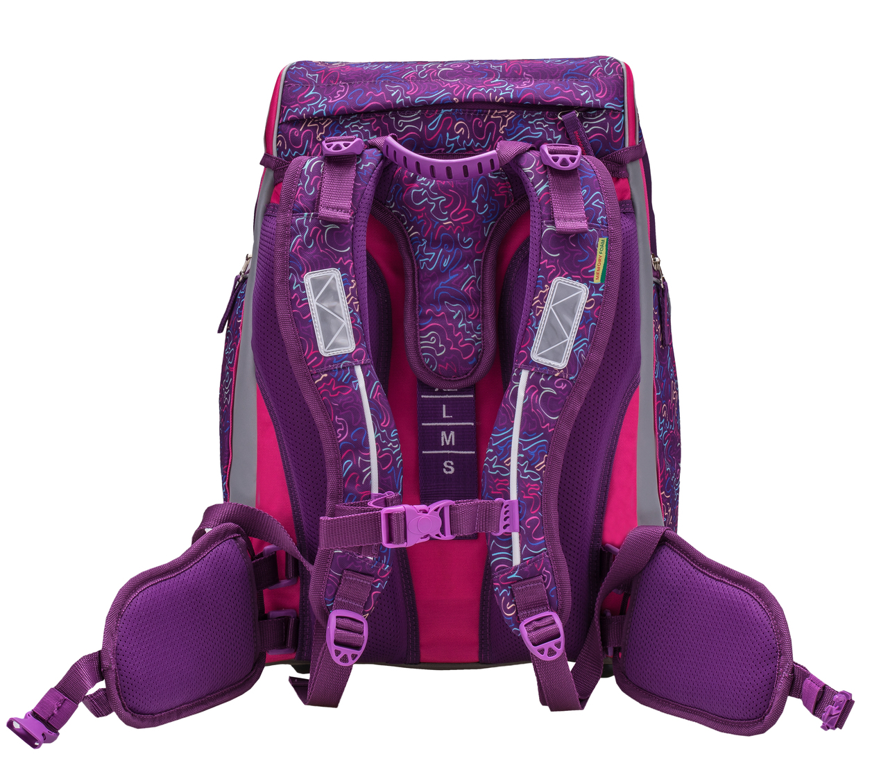 Ранец-рюкзак Belmil Comfy Pack 405-11/683 цвет Pink & Purple Harmony+ дождевик, - фото 6