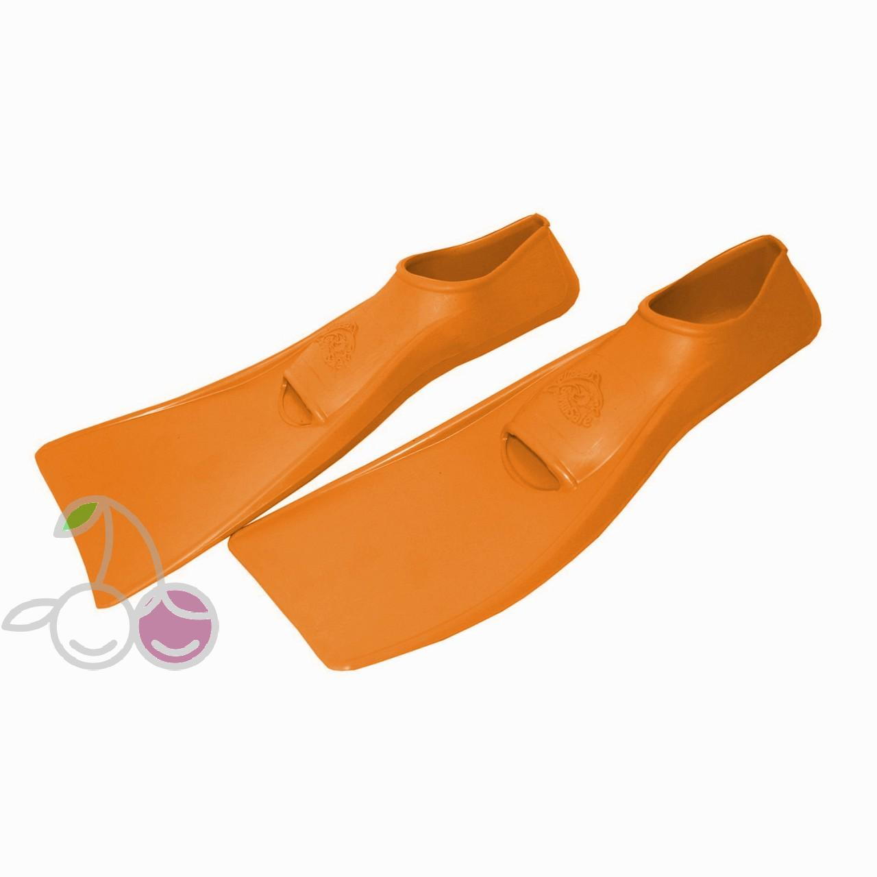 Ласты для бассейна резиновые детские размеры 24-26 оранжевые СВИМСЕЙФ (SwimSafe) Германия, - фото 2