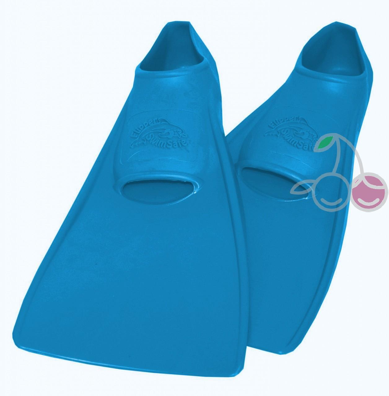 Ласты для бассейна резиновые детские размеры 22-24 синие СВИМСЕЙФ (SwimSafe) Германия, - фото 1
