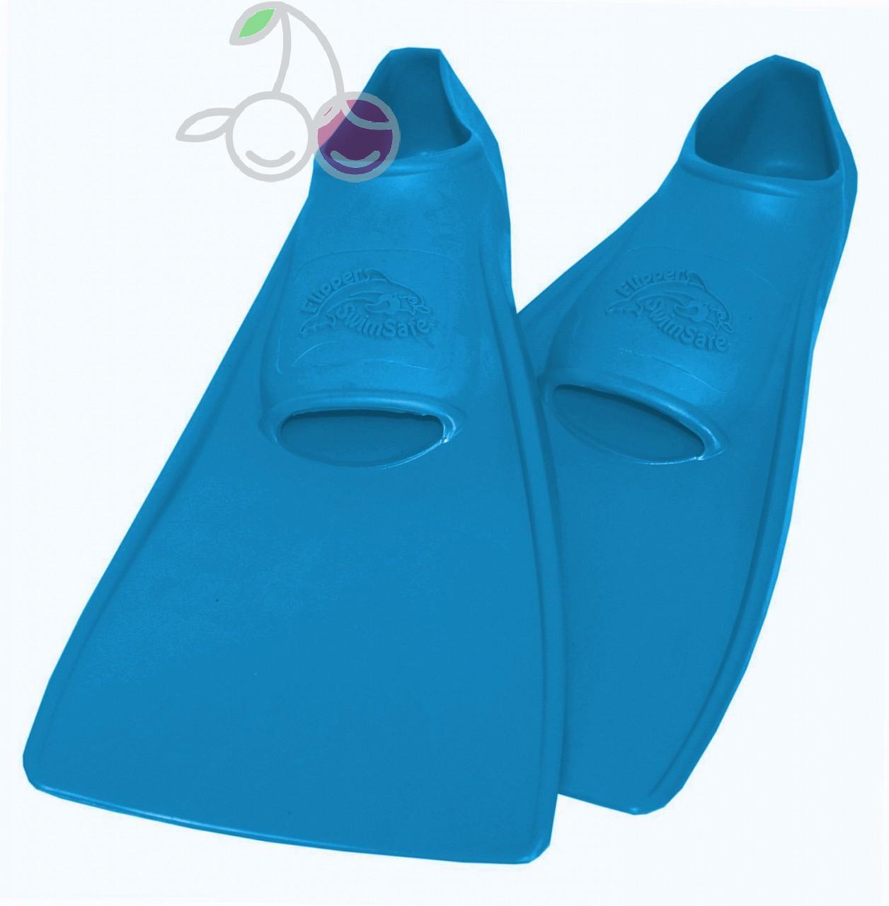 Ласты для бассейна резиновые детские размеры 24-26 синие СВИМСЕЙФ (SwimSafe) Германия, - фото 1