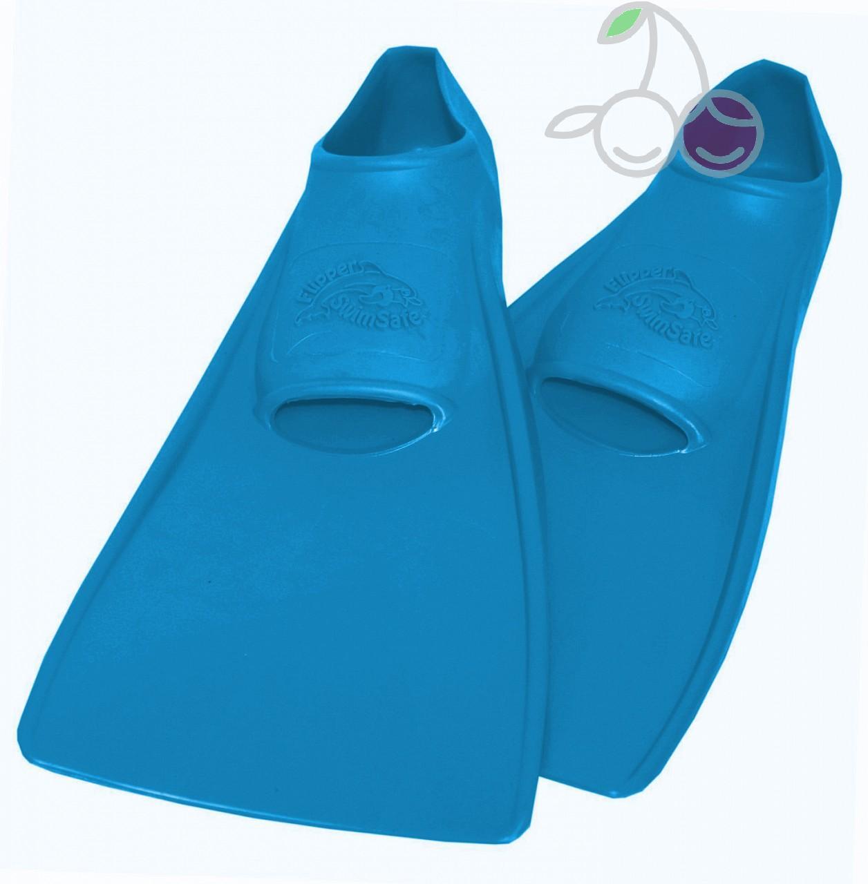 Ласты для бассейна резиновые детские размеры 26-28 синие СВИМСЕЙФ (SwimSafe) Германия, - фото 1