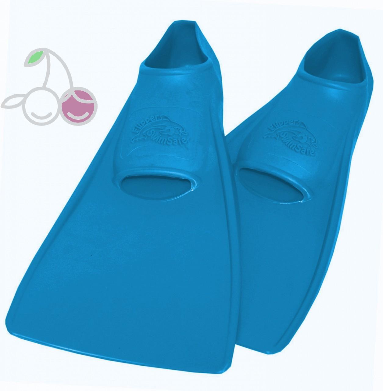 Ласты для бассейна резиновые детские размеры 28-30 синие СВИМСЕЙФ (SwimSafe) Германия, - фото 1