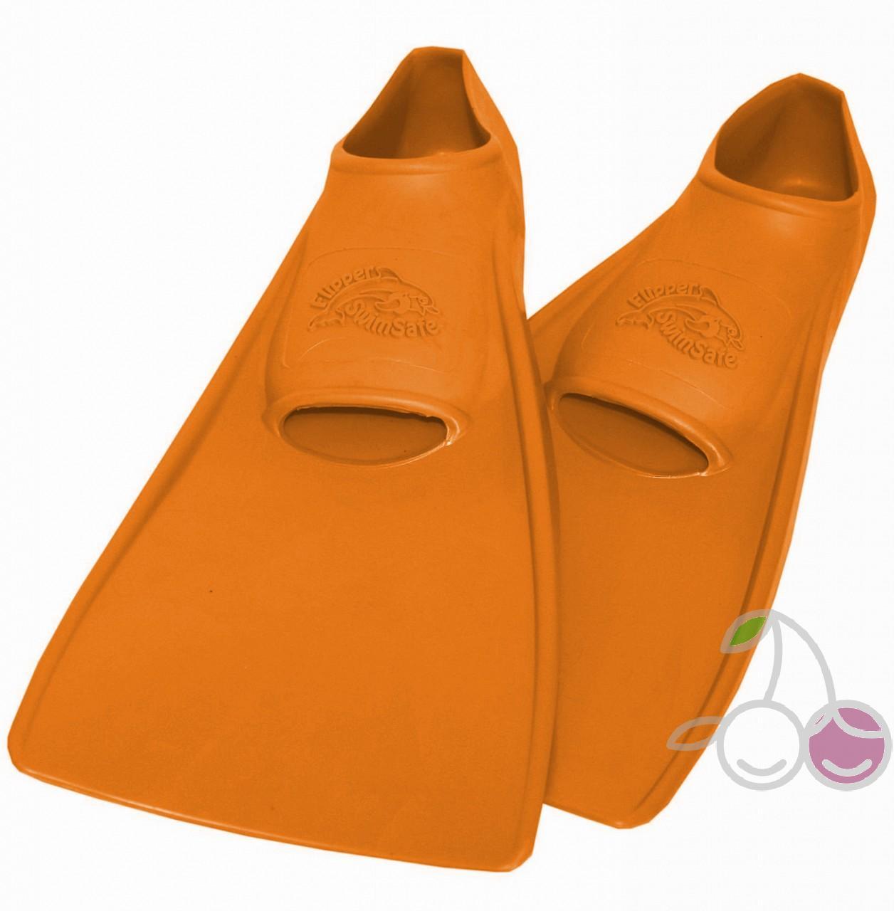 Ласты для бассейна резиновые детские размеры 30-33 оранжевые СВИМСЕЙФ (SwimSafe) Германия, - фото 1