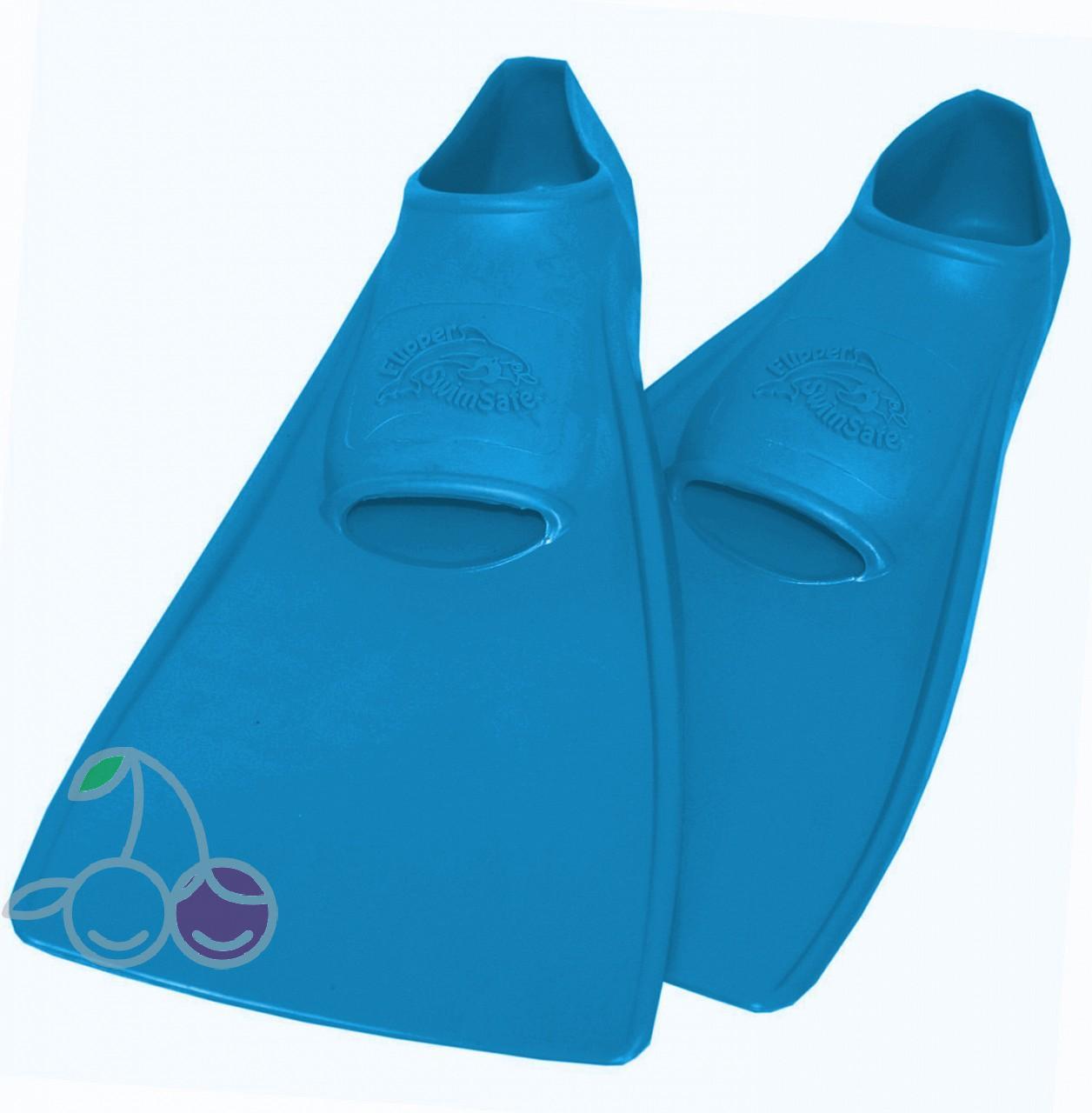 Ласты для бассейна резиновые детские размеры 30-33 синие СВИМСЕЙФ (SwimSafe) Германия, - фото 1