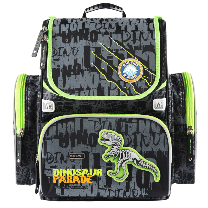 Ранец Mike Mar Динозавр 1074-ММ-150 + мешок для обуви + пенал в подарок, - фото 1