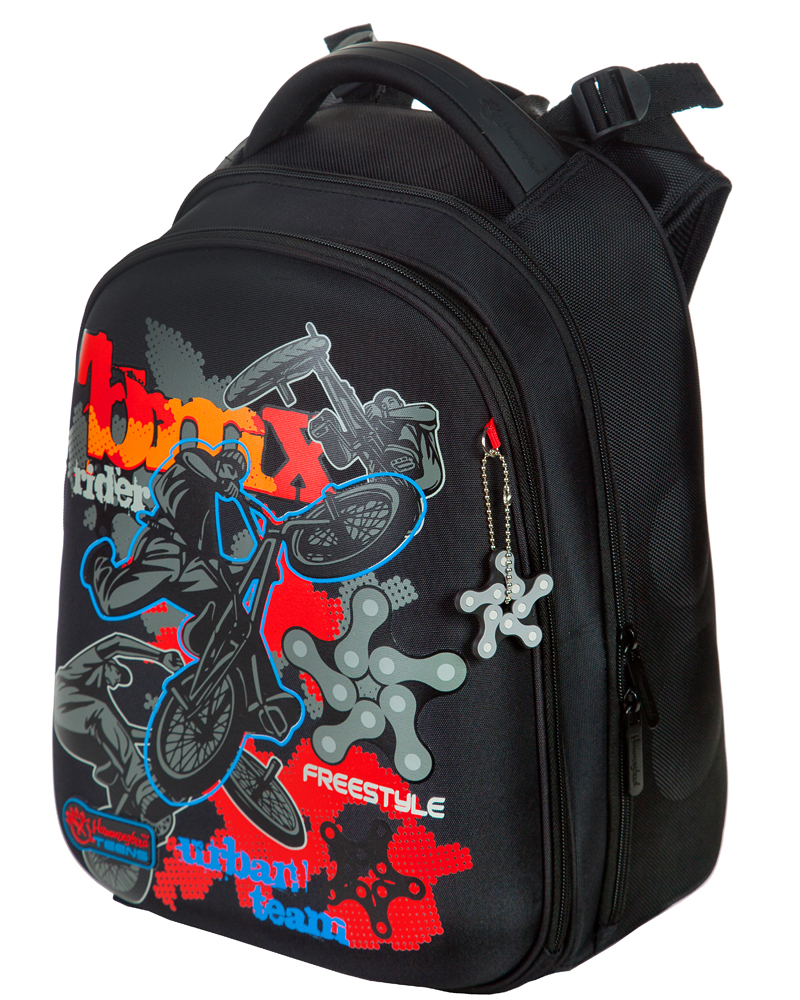 Школьный ранец Hummingbird Teens T90 BMX + мешок в подарок, - фото 1