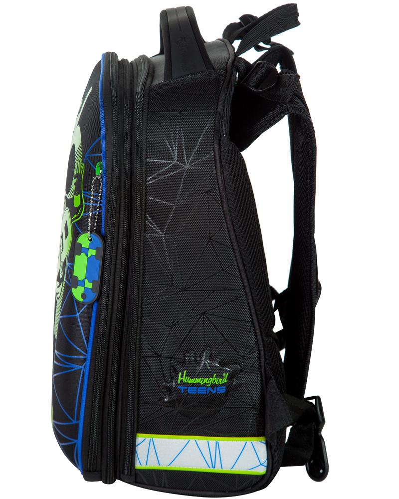Школьный ранец Hummingbird Teens T92 Скейтборд + пенал в подарок, - фото 3