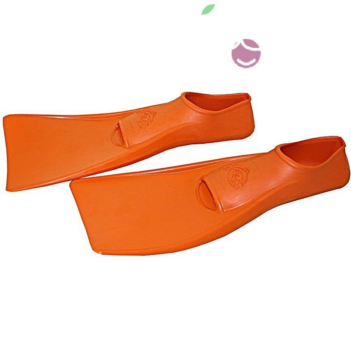 Ласты детские эластичные маленький размер 22 оранжевые закрытая пятка SwimSafe (Свимсейф) Германия, - фото 2