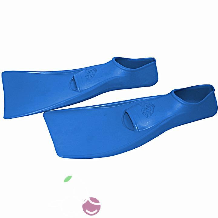 Ласты детские эластичные маленький размер 22 синие закрытая пятка SwimSafe (Свимсейф) Германия, - фото 2