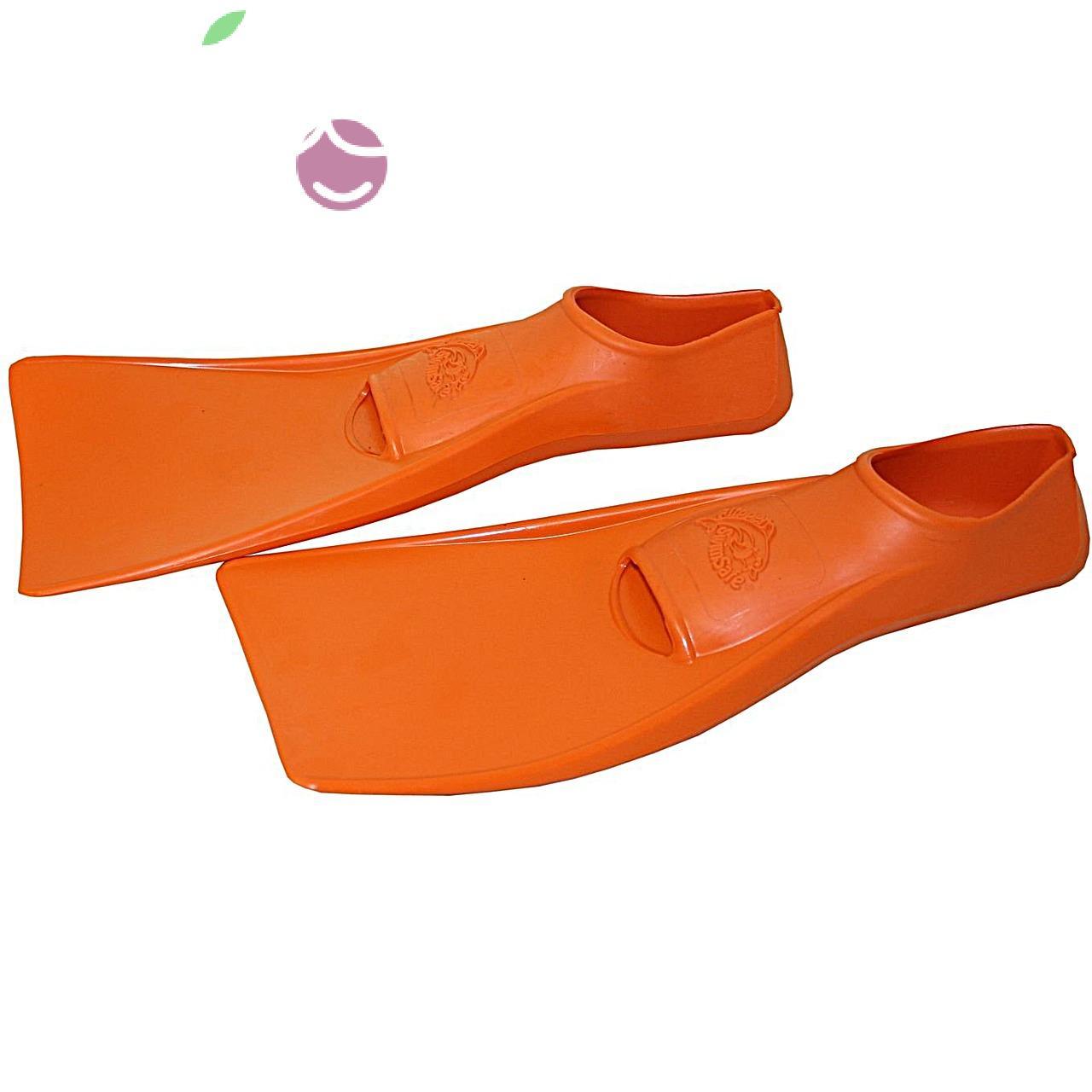 Ласты детские эластичные маленький размер 24 оранжевые закрытая пятка SwimSafe (Свимсейф) Германия, - фото 3
