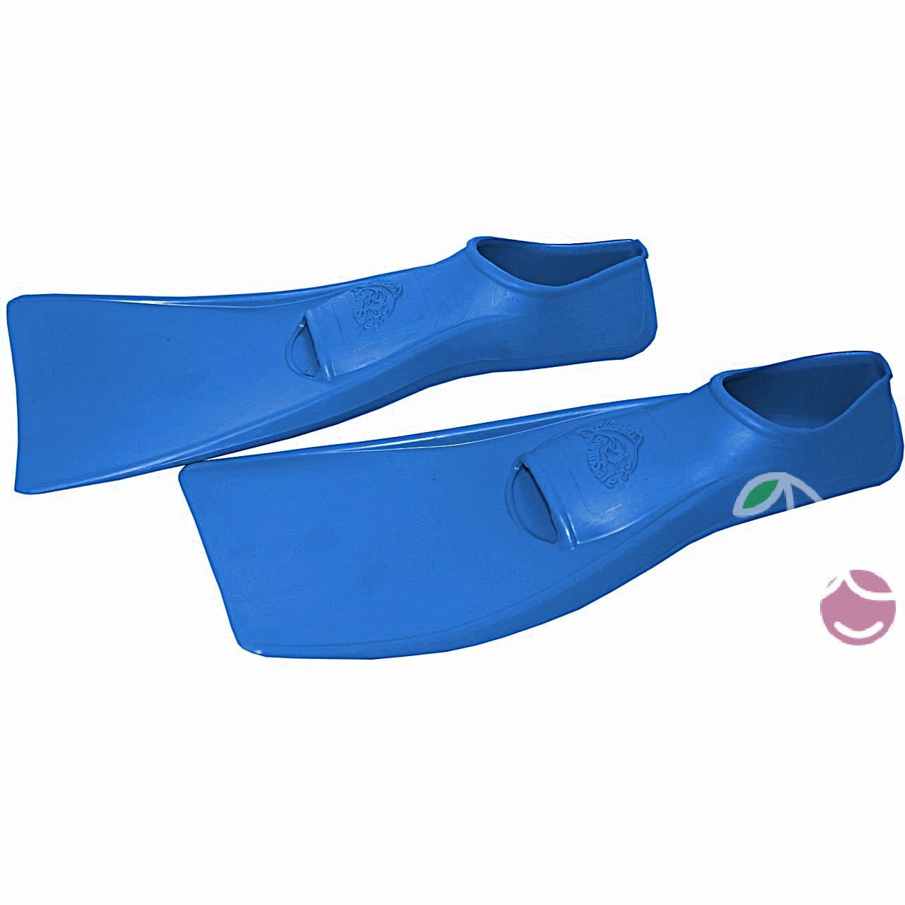 Ласты детские эластичные маленький размер 24 синие закрытая пятка SwimSafe (Свимсейф) Германия, - фото 2