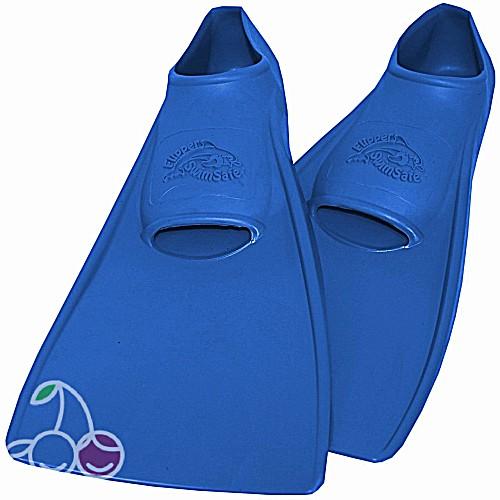 Ласты детские эластичные маленький размер 24 синие закрытая пятка SwimSafe (Свимсейф) Германия