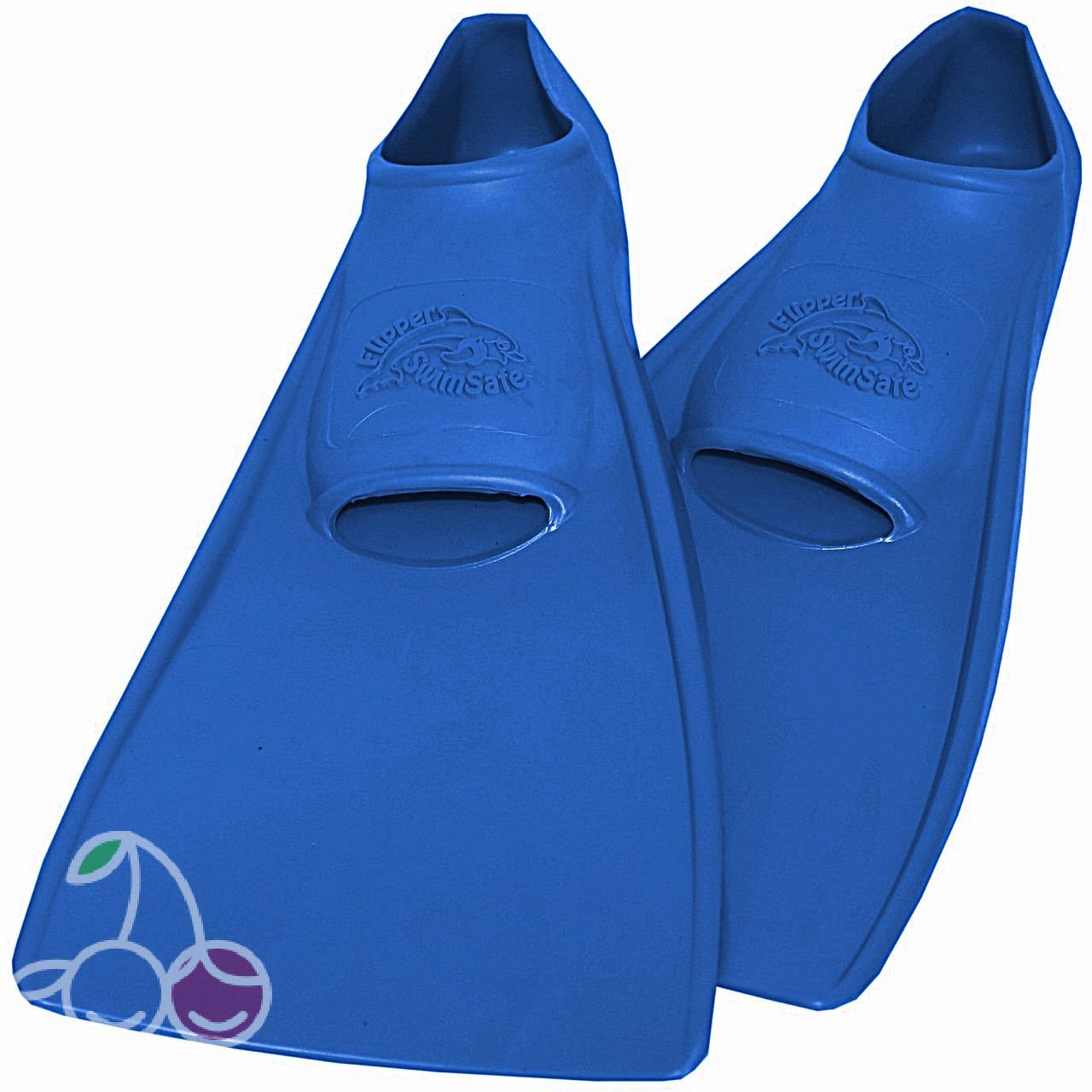 Ласты детские эластичные маленький размер 24 синие закрытая пятка SwimSafe (Свимсейф) Германия, - фото 1