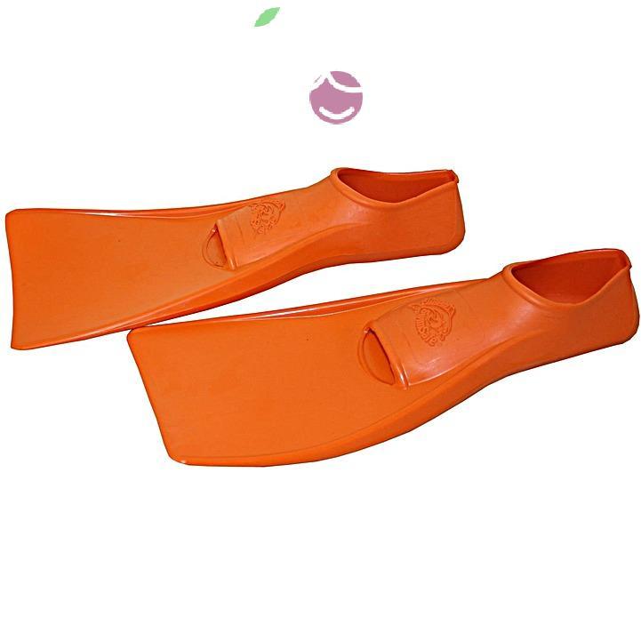 Ласты детские эластичные маленький размер 26 оранжевые закрытая пятка SwimSafe (Свимсейф) Германия, - фото 2