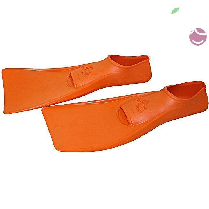 Ласты детские эластичные маленький размер 28-30 оранжевые закрытая пятка SwimSafe (Свимсейф) Германия, - фото 2