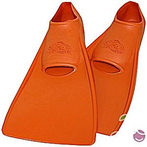 Ласты детские эластичные маленький размер 28-30 оранжевые закрытая пятка SwimSafe (Свимсейф) Германия
