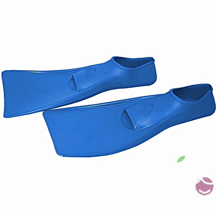 Ласты детские эластичные маленький размер 28-30 синие закрытая пятка SwimSafe (Свимсейф) Германия, - фото 2