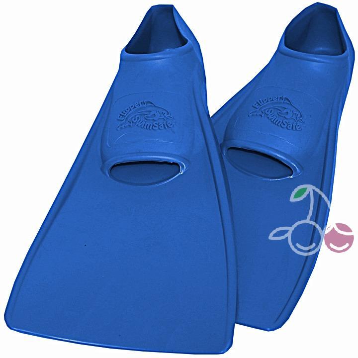 Ласты детские эластичные маленький размер 28-30 синие закрытая пятка SwimSafe (Свимсейф) Германия, - фото 1