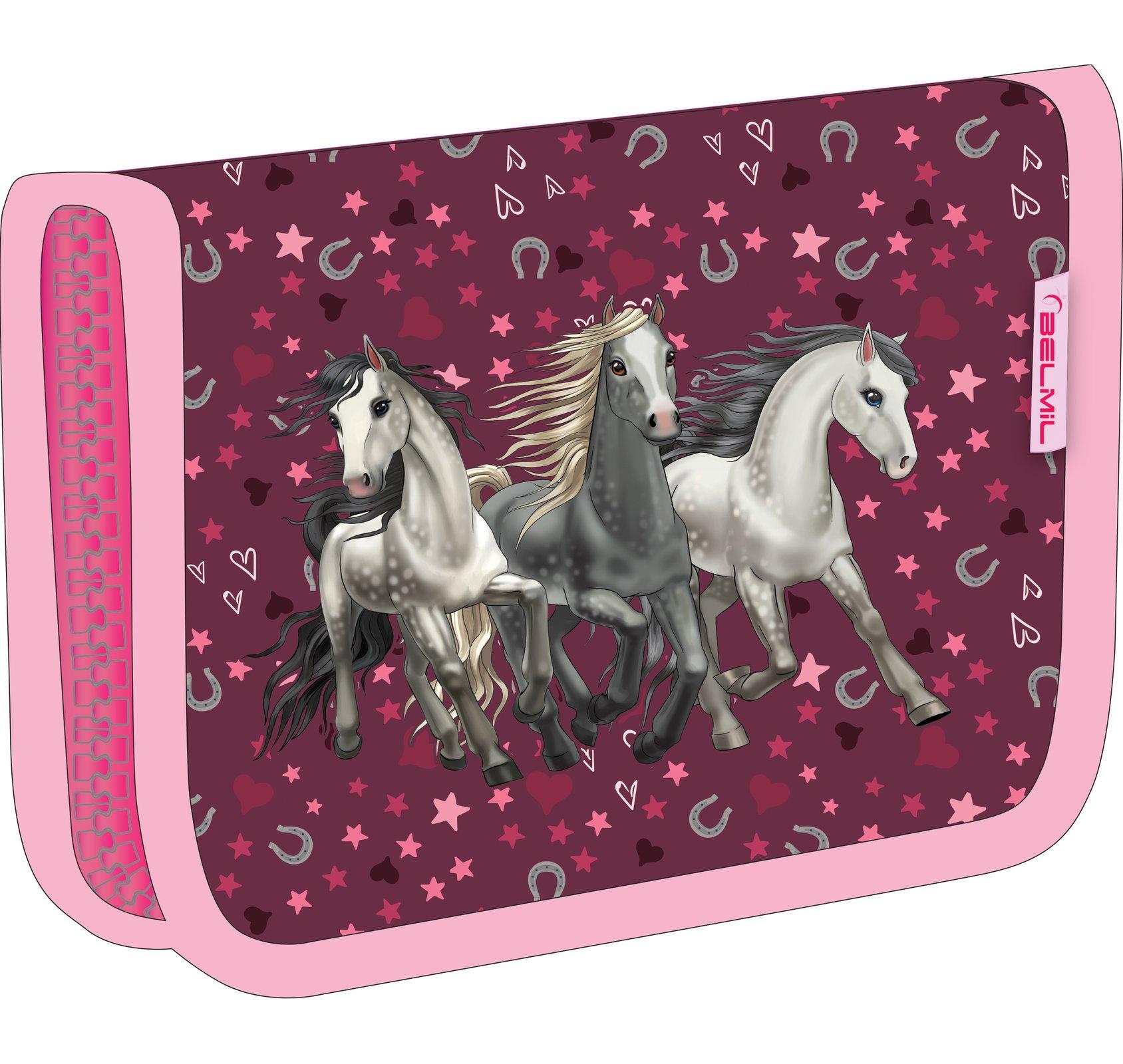 Пенал Belmil Лошадки 33572 I Love Horse, - фото 1