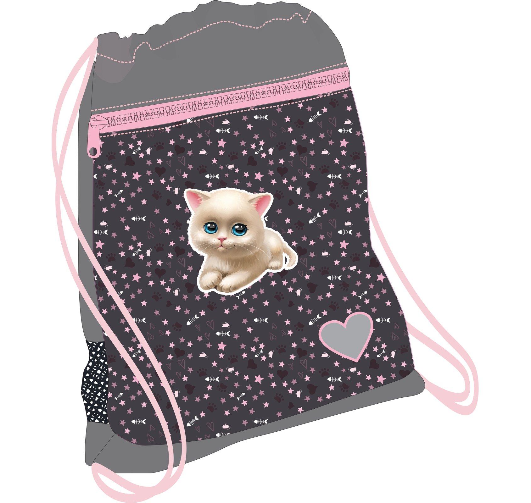 Мешок для обуви Кошачья Любовь 336-91 I Love Cats, - фото 1