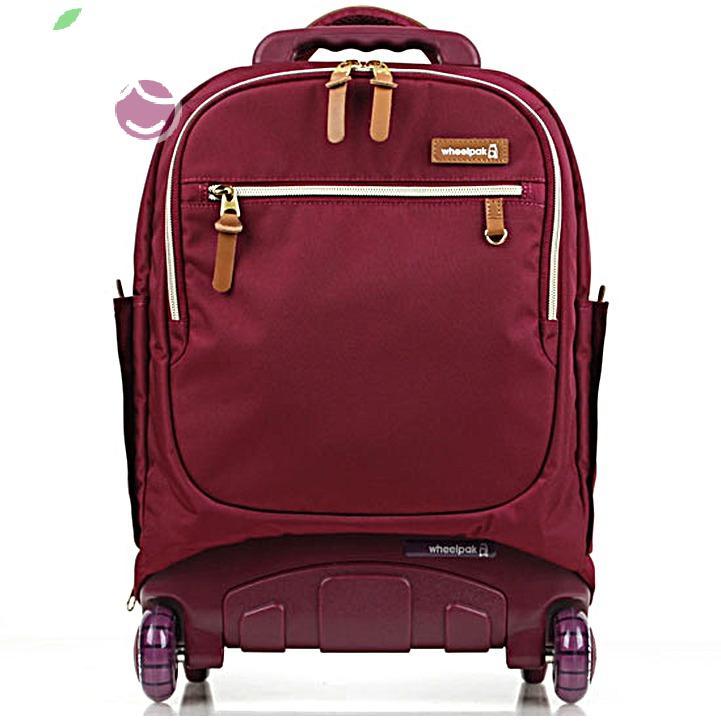 Школьный рюкзак на колесах для девочки - ранец Wheelpak Classic BORDO - арт. WLP3200 (для 2-4 класс, 21 литр), - фото 1