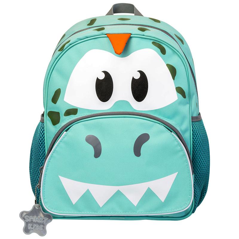 Детский рюкзак для мальчика JUMBO COMPACT MINI динозавр зеленый, - фото 1