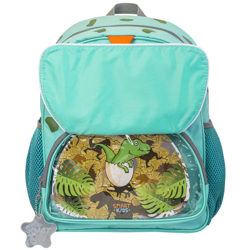 Детский рюкзак для мальчика JUMBO COMPACT MINI динозавр зеленый, - фото 3