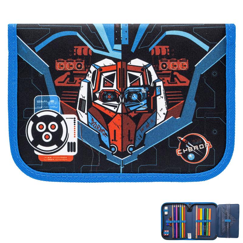 Пенал с наполнением для мальчика Трансформер синий Tiger Family 23 предмета, - фото 2