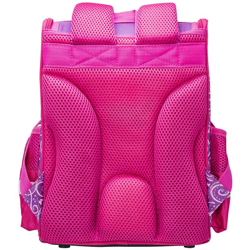 Ранец школьный ANIMAL CLUB розовый с кошкой, - фото 5