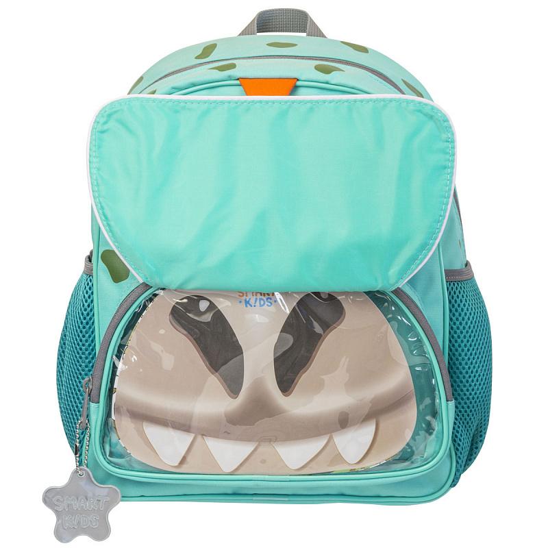 Детский рюкзак для мальчика JUMBO COMPACT MINI динозавр зеленый, - фото 4