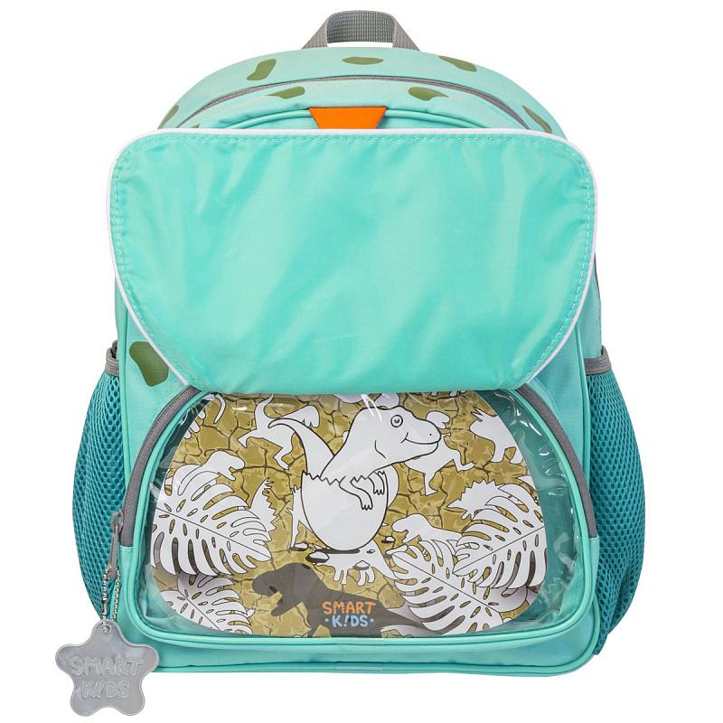 Детский рюкзак для мальчика JUMBO COMPACT MINI динозавр зеленый, - фото 5