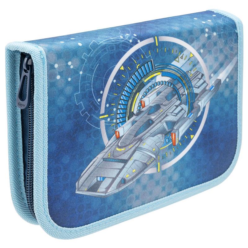 Пенал с наполнением для мальчика Космическое путешествие синий Tiger Family 23 предмета, - фото 1