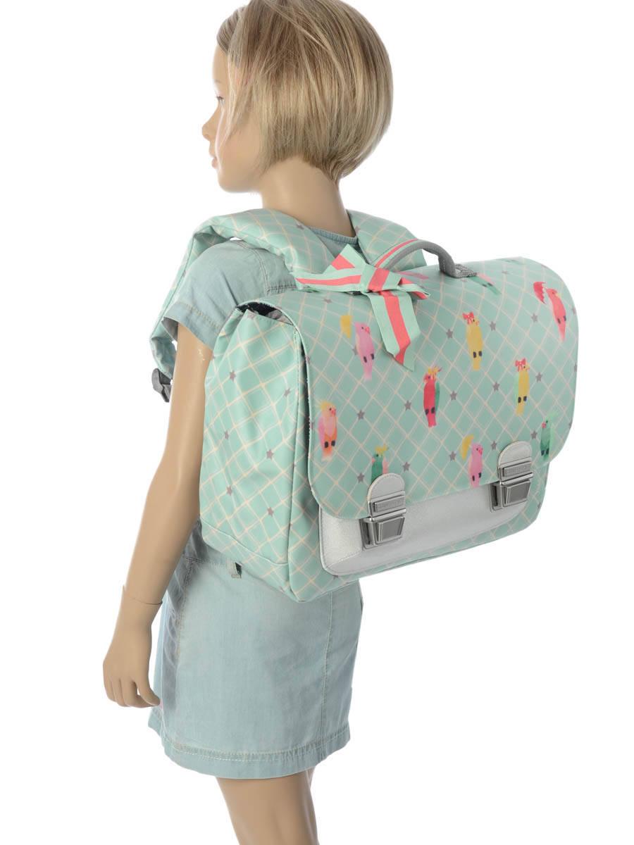 Школьный портфель для девочки Jeune Premier Posh Parrots Попугаи Midi , - фото 9