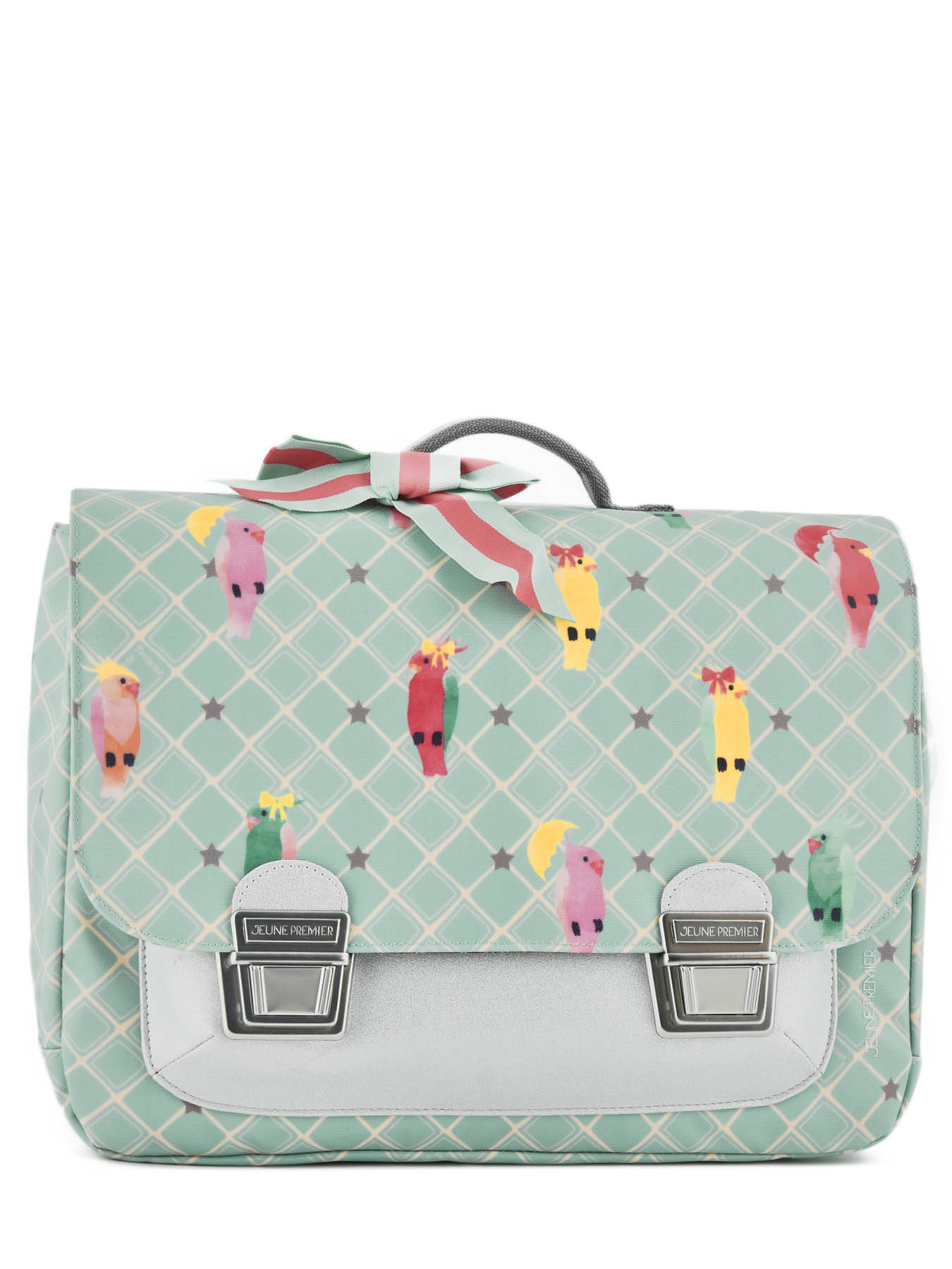 Школьный портфель для девочки Jeune Premier Posh Parrots Попугаи Midi , - фото 3