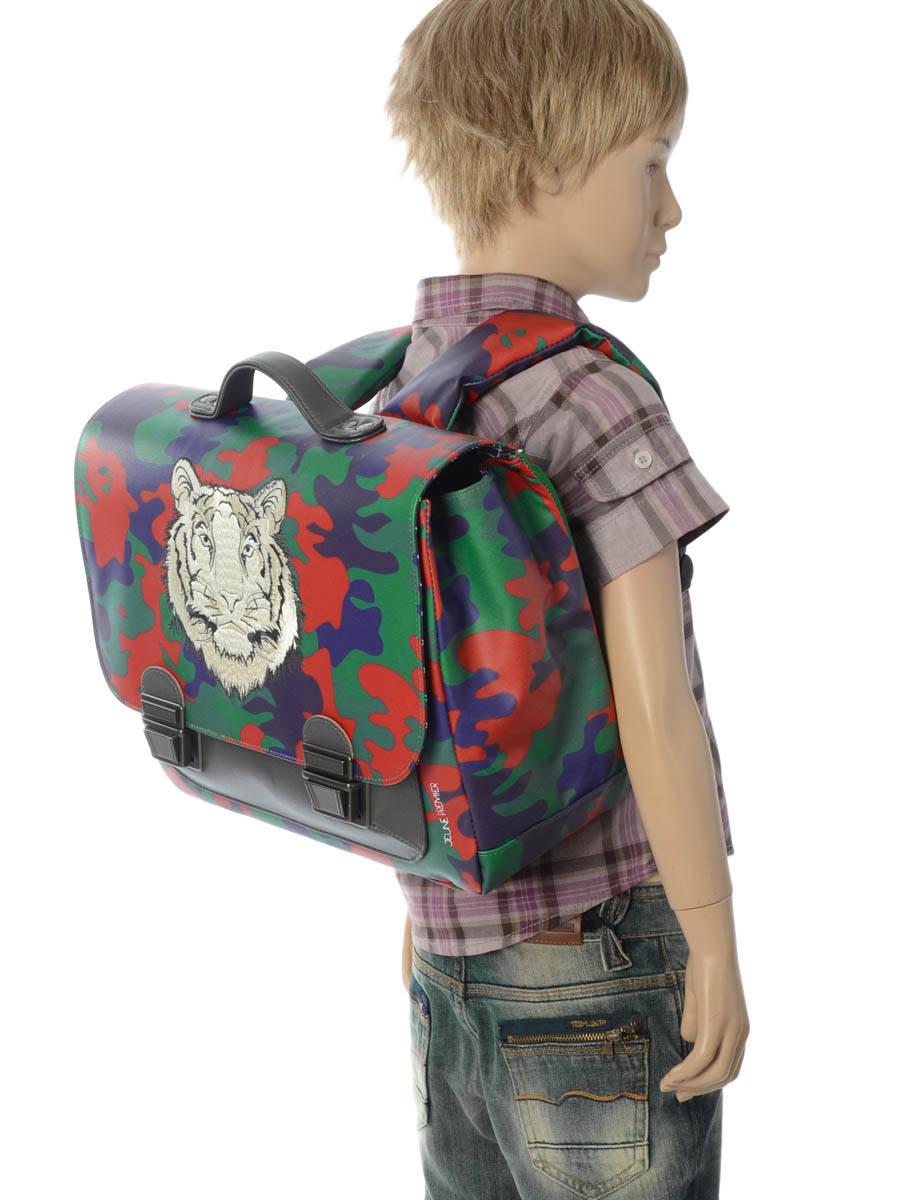 Школьный портфель для мальчика Jeune Premier Бенгальский Тигр Midi , - фото 9