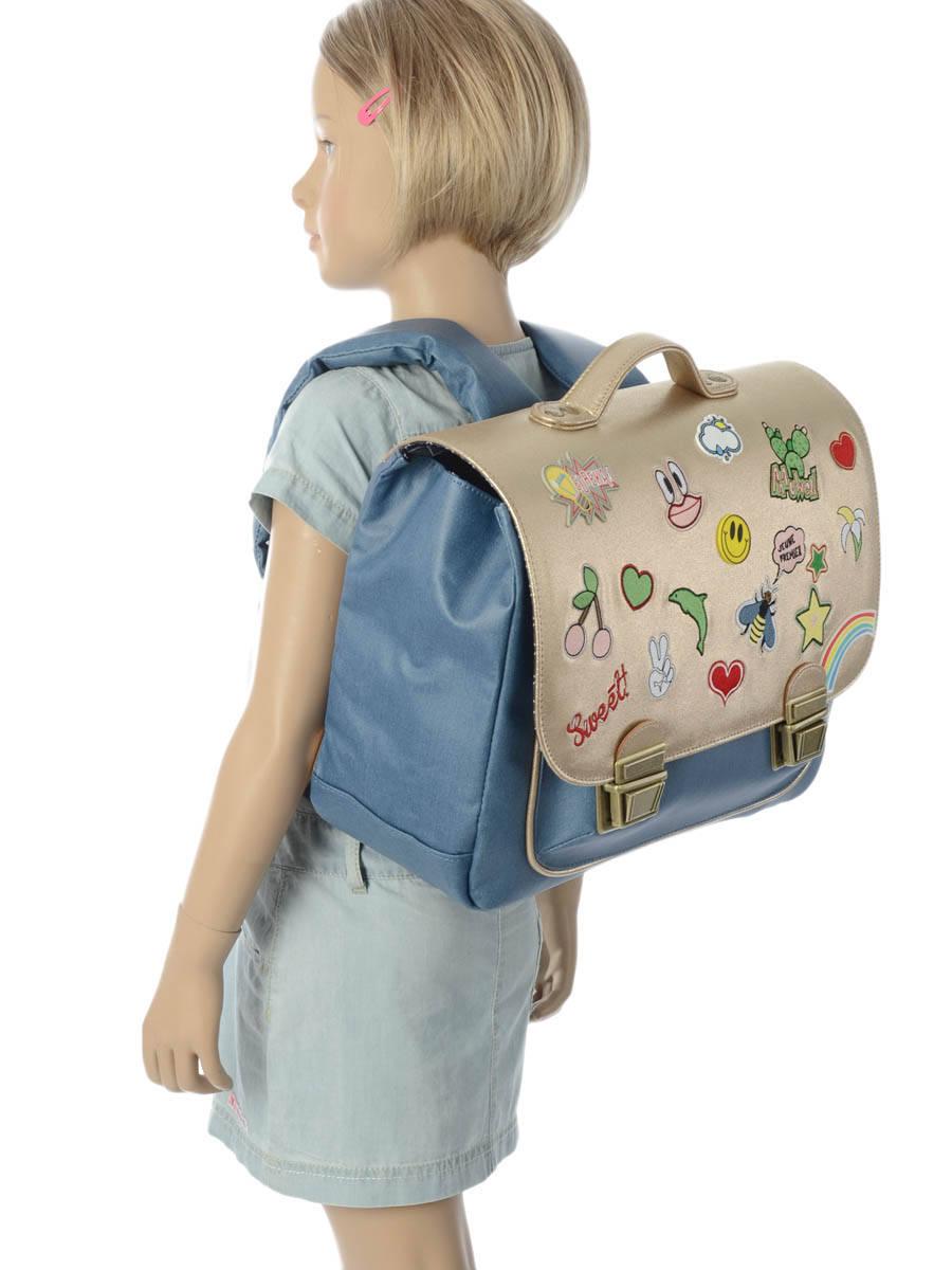 Школьный портфель для девочки Jeune Premier GOLDFUN Золото Midi, - фото 10